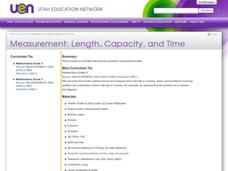 Measurement: Length, Capacity, and Time Lesson Plan