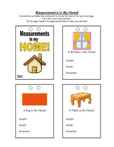 Measurements in My Home! Worksheet