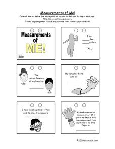 Measurements of Me! Worksheet