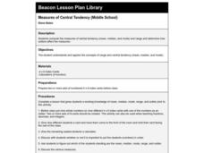 Measures of Central Tendency Lesson Plan