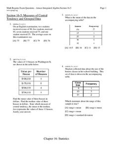 measures of central tendency worksheet for 9th grade lesson planet. Black Bedroom Furniture Sets. Home Design Ideas