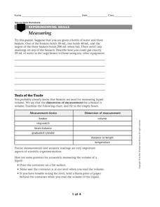Measuring Worksheet