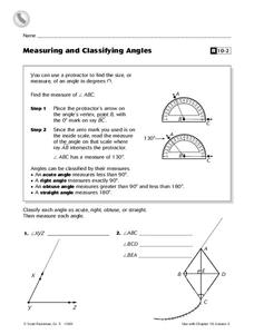 measuring and classifying angles worksheet for 5th grade lesson planet. Black Bedroom Furniture Sets. Home Design Ideas