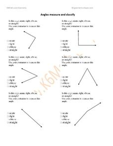 measuring and classifying angles worksheet for 6th grade lesson planet. Black Bedroom Furniture Sets. Home Design Ideas