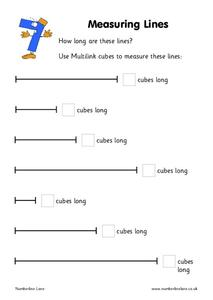 measuring lines worksheet for kindergarten 1st grade lesson planet. Black Bedroom Furniture Sets. Home Design Ideas