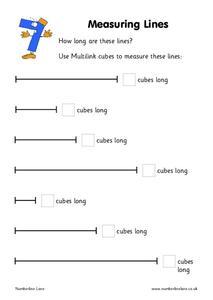 measuring lines worksheet for kindergarten 1st grade lesson planet. Black Bedroom Furniture Sets. Home Design Ideas