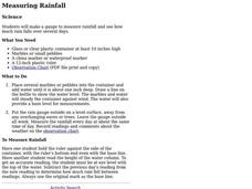 Measuring Rainfall Lesson Plan