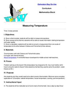 Measuring Temperature Lesson Plan