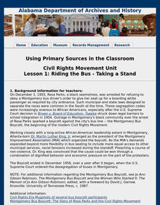 Riding the Bus - Taking a Stand Lesson Plan