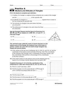 Medians And Altitudes Of Triangles Lesson Plan For 10th Grade