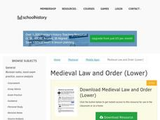 Medieval Law and Order (Lower) Worksheet