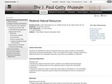 Medieval Natural Resources Lesson Plan