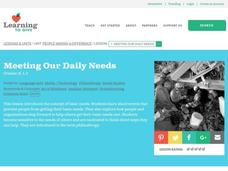 Meeting Our Daily Needs Lesson Plan