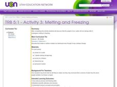 Melting and Freezing Lesson Plan