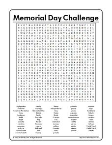 Memorial Day Lesson Plans Worksheets Lesson Planet