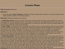 Memories Lesson Plan