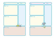 Memory Book Worksheet