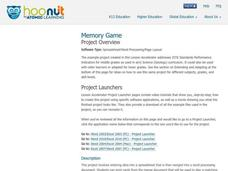 Memory Game Lesson Plan