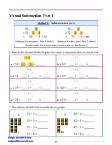 Mental Subtraction Methods Lesson Plan