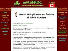 Mental Multiplication and Division Lesson Plan
