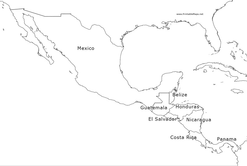 Mexico and Central America Map Lesson Plans & Worksheets