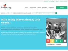 Mile in My Moccasins Lesson Plan