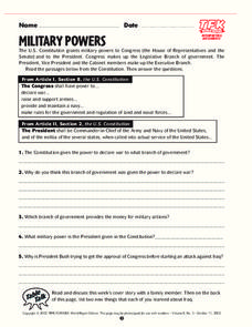 Military Powers Lesson Plan