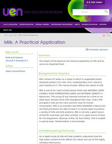 Milk: A Practical Application Lesson Plan