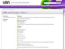 Milk and Dairy, Day 1 Lesson Plan