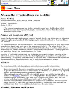 Arts and the Olympics/Dance and Athletics Lesson Plan