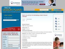 Multi-Cultural Calendar - Activity Lesson Plan