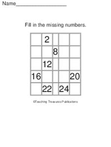 Missing Numbers 9 Worksheet