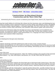 Construction and the Three Little Pigs Lesson Plan