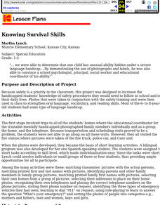 Knowing Survival Skills Lesson Plan