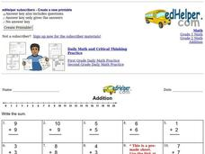 Mixed Addition Worksheet