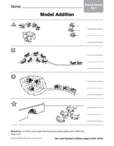 Model Addition Worksheet