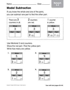 Model Subtraction Worksheet