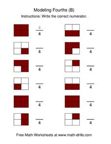Modeling Fourths (B) Worksheet
