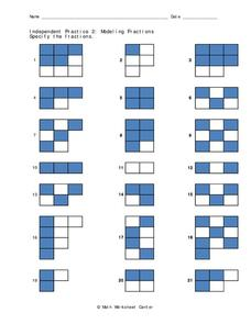 Modeling Fractions Worksheet