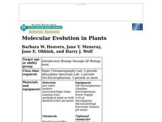 Molecular Evolution in Plants Lesson Plan