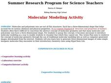 Molecular Modeling Activity Lesson Plan