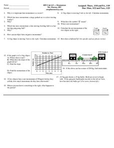 Momentum Worksheet