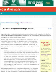 Celebrate Hispanic Heritage Month! Lesson Plan