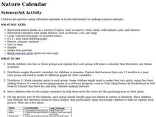 Nature Calendar Lesson Plan
