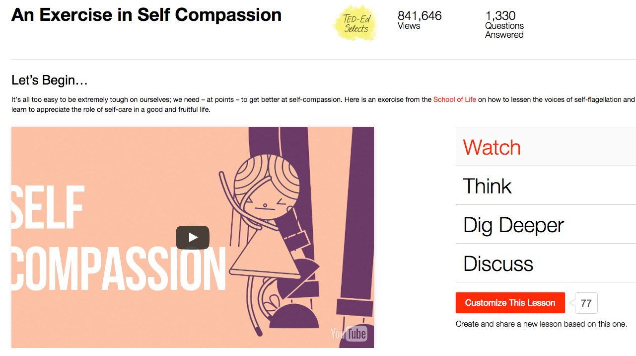 An Exercise in Self Compassion Video