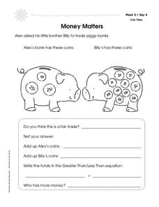 Money Matters Worksheet