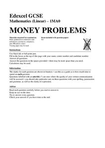 Money Problems Assessment