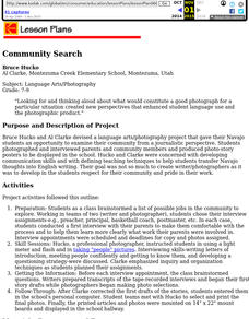 Community Search Lesson Plan