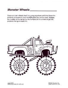 Monster Wheels Worksheet