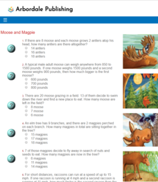 Moose and Magpie: Math Quiz Interactive